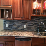 gray backsplash